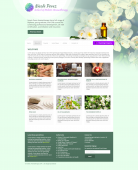 Design concept for the School of Holistic Aromatherapy - responsive site